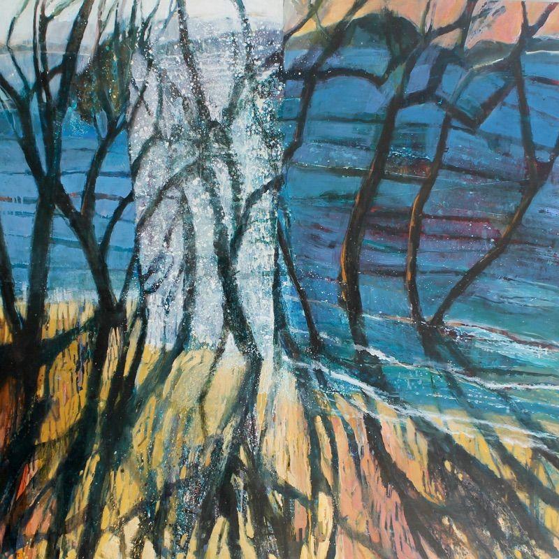 Debbie mackinnon artist paints contemporary landscapes in