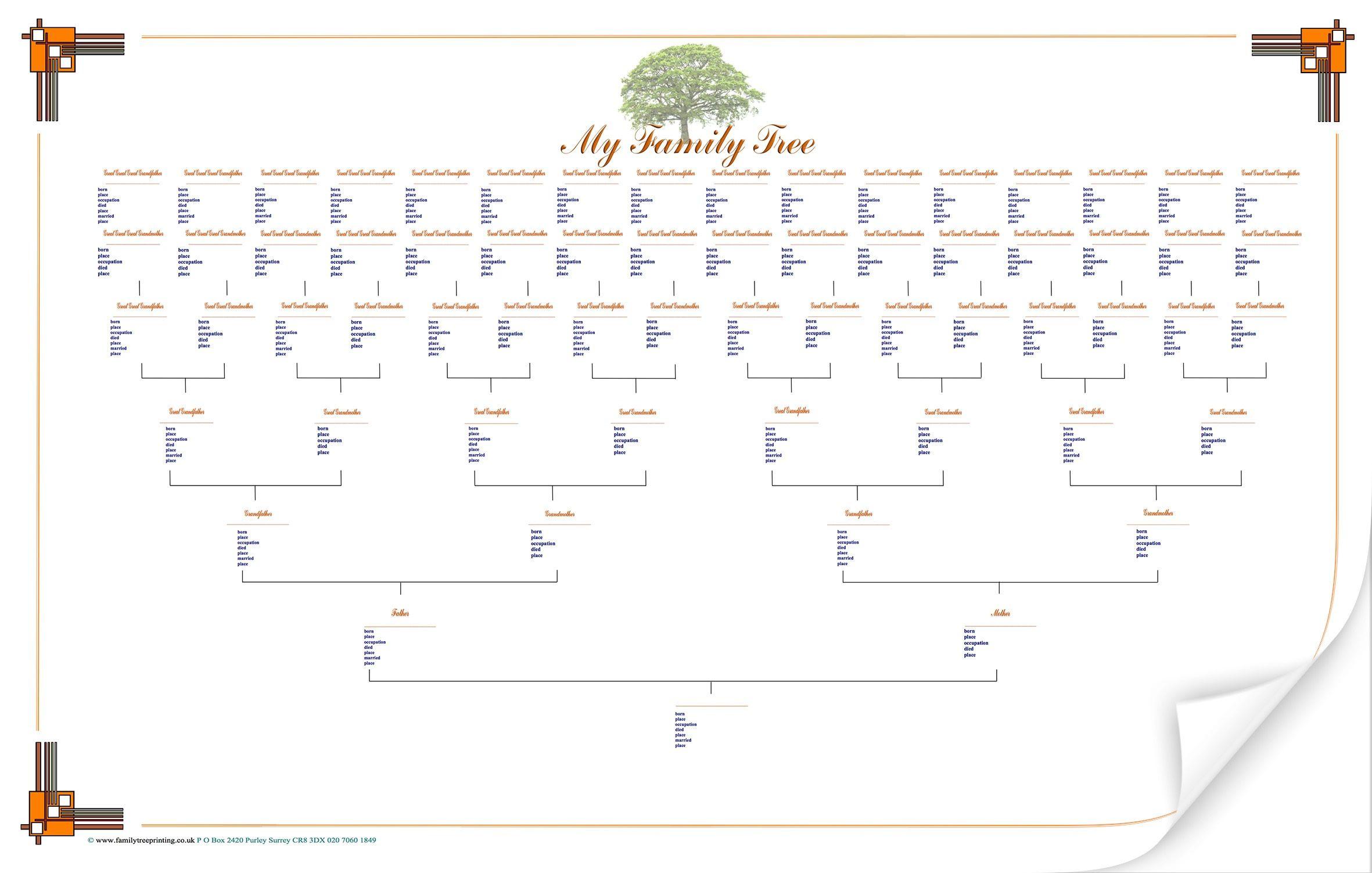 Large Blank Family Tree Chart