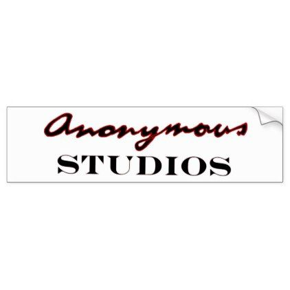 Anonymous studios logo bumper sticker