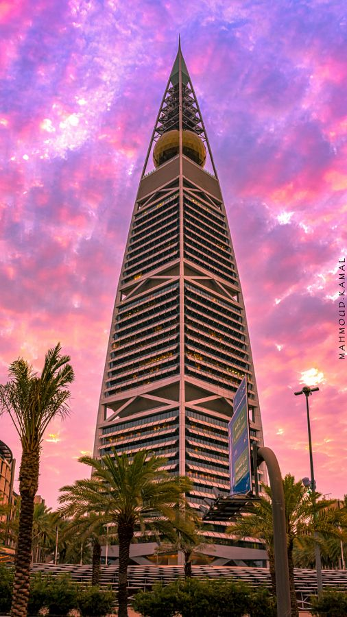 Faisaliah Tower Background For Photography Saudi Arabia Culture City Wallpaper