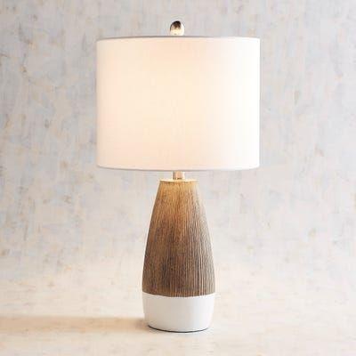 Janis 2 Tone Table Lamp In 2020 Rustic Lamp Shades