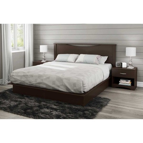 Chocolate South Shore Step One Headboard King 78-Inch