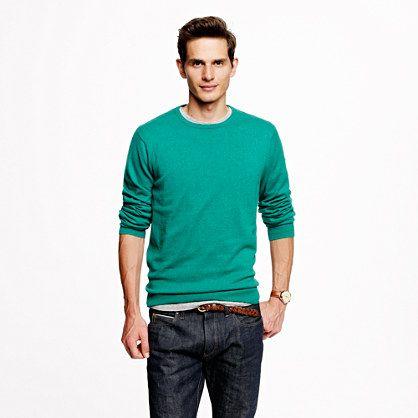 f6fa6041e6c6 Cotton-cashmere crewneck sweater Men s Sweaters