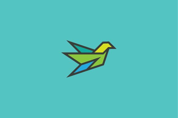 Geometric Flying Bird Logo @creativework247