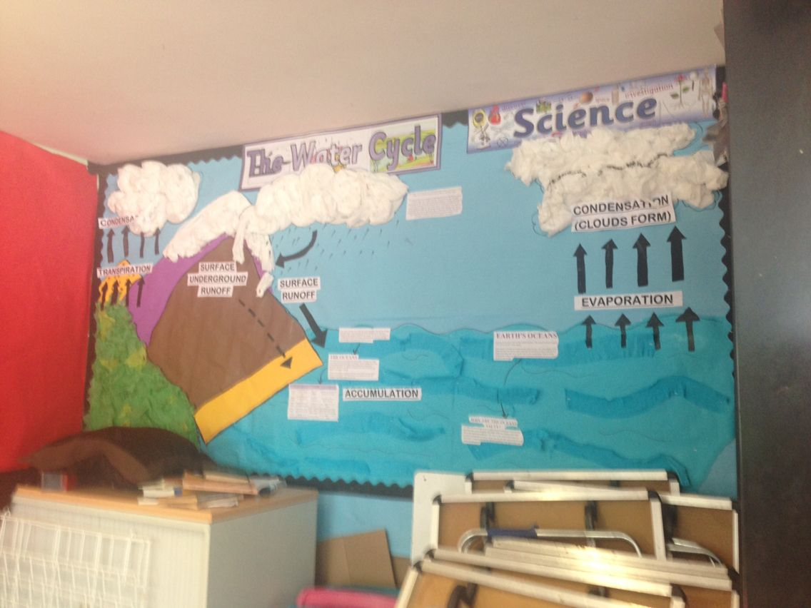 My Year 5 Class Water Cycle Display The Kids Helped Draw
