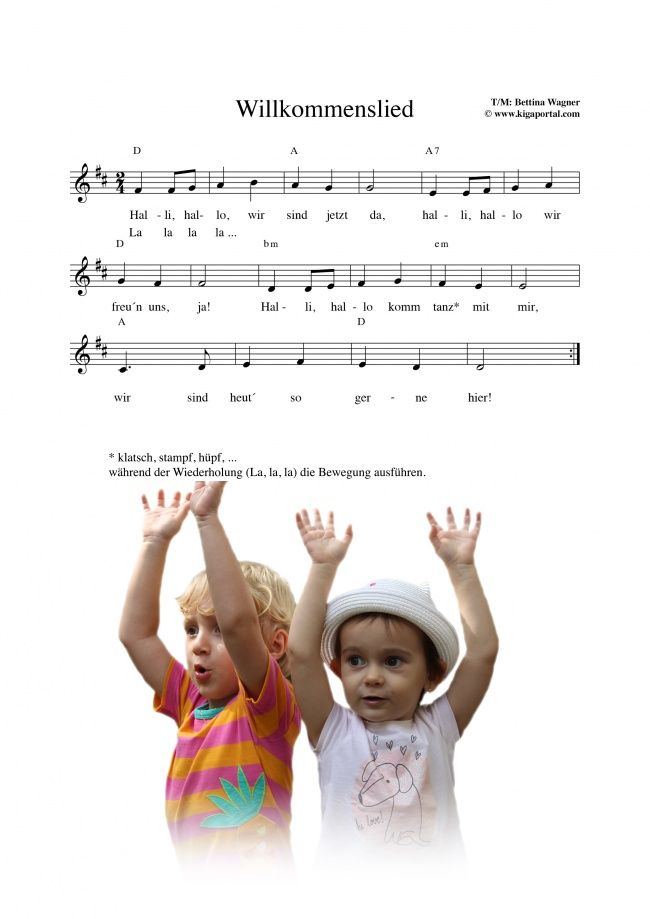 Kinderkrippe-KiGaPortal-Mitmachlied-Bewegungslied