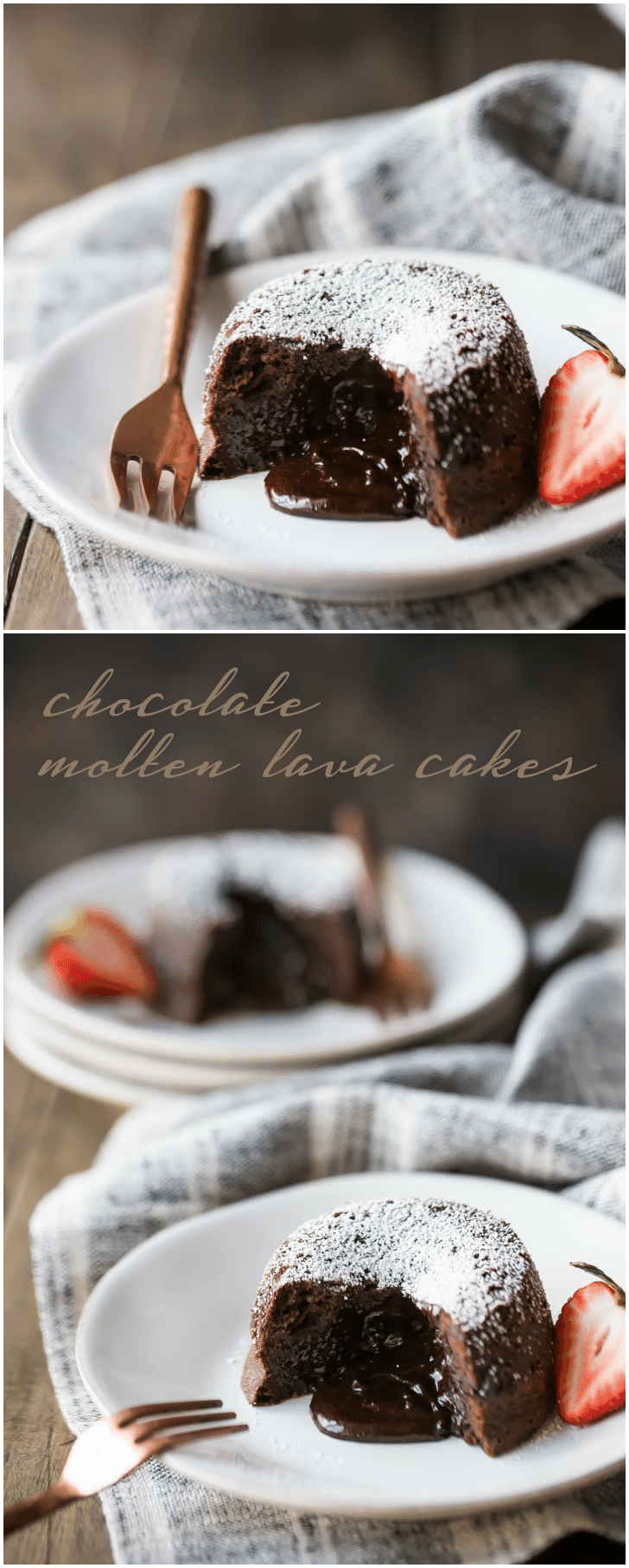 Chocolate Molten Lava Cakes: so rich & decadent! -Baking a Moment