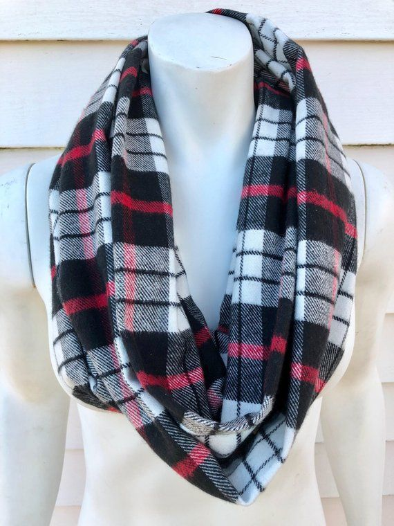 Plaid flannel scarves Grunge Plaid Infinity Scarfwomens Handmade Fall Flannel Scarfaccessories Gifts For Hertoronto Raptors Storenvy Plaid Infinity Scarfwomens Handmade Fall Flannel Scarfaccessories