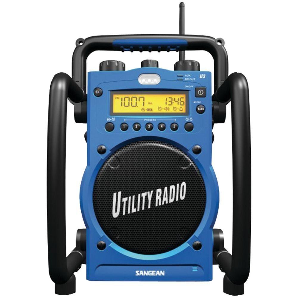 Sangean Digital Am Fm Water Resistant Utility Radio Alarm Rugged Water Resistant