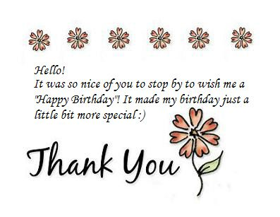 Thank You Notes For Birthday Wishes With Images Birthday