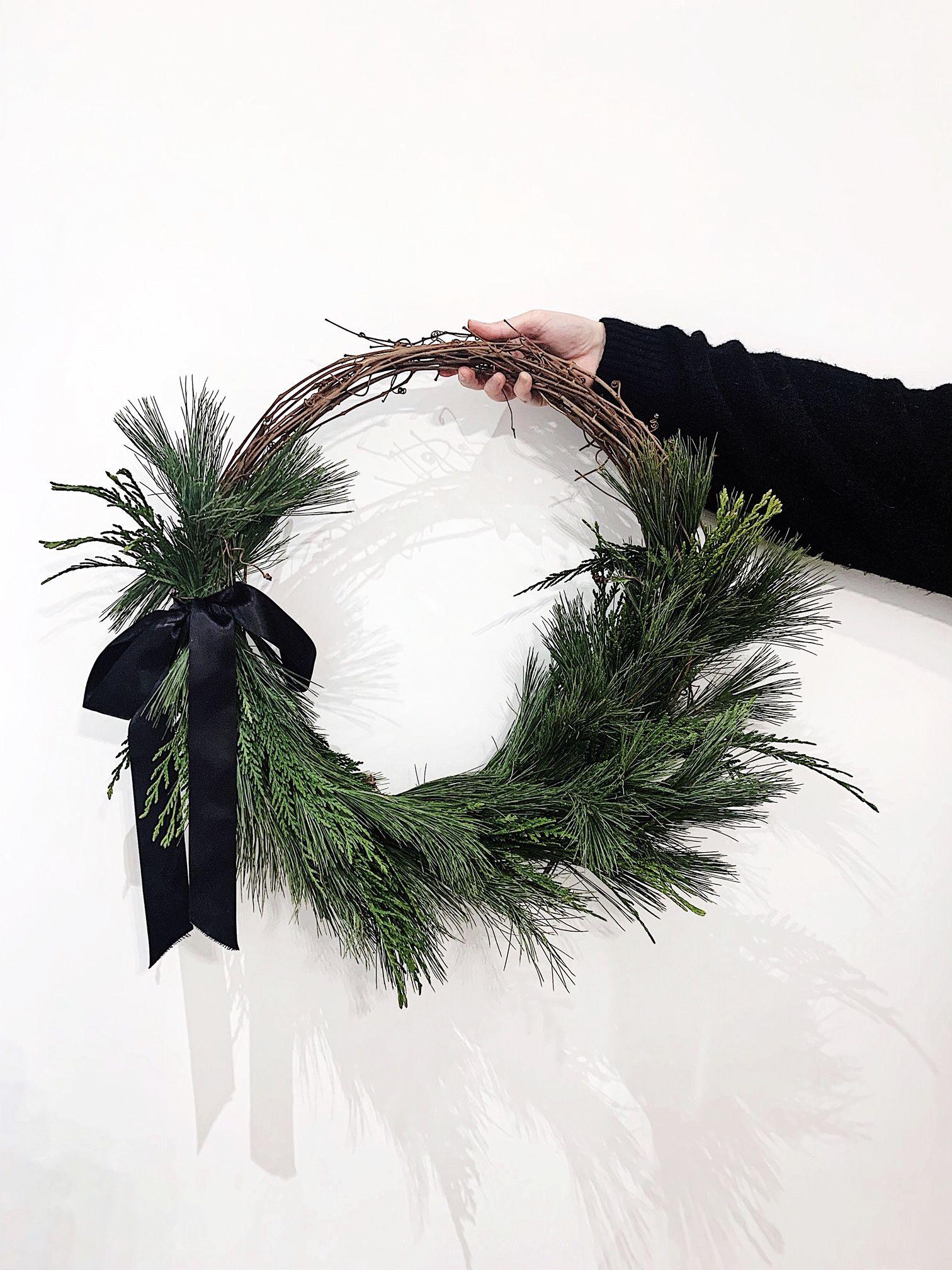Minimalist Scandinavian Natural Christmas Wreath Naturliche Weihnachten Weihnachten Dekoration Weihnachtsgrun