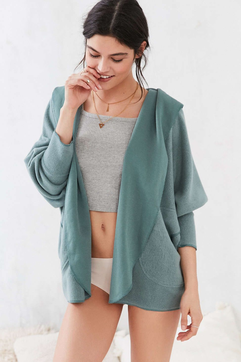 Silence   Noise Seoul Cozy Hooded Cardigan - Urban Outfitters ...