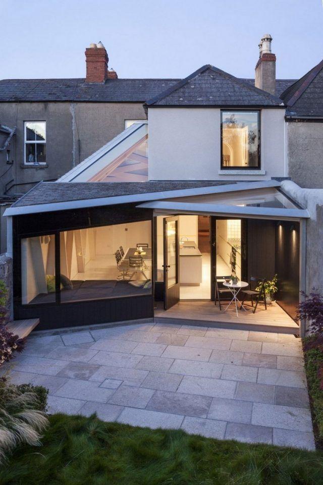 Extension de maison avec toit en verre en 20 idées du0027aménagement