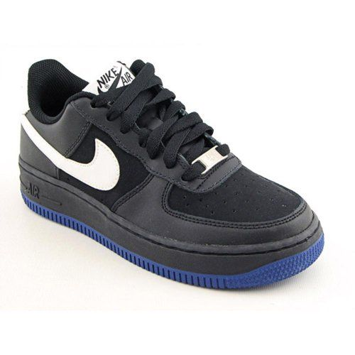 sale retailer 6a329 4d1d8 Nike Air Force 1 (GS) Youth Kids Boys Size 5.5 Black Leather Basketball  Shoes