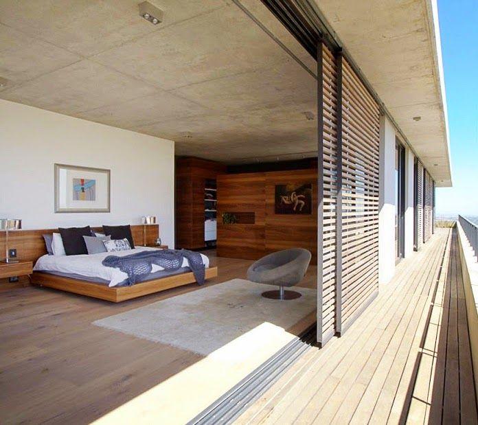 habitacion-persianas-madera Recámara Pinterest Architecture