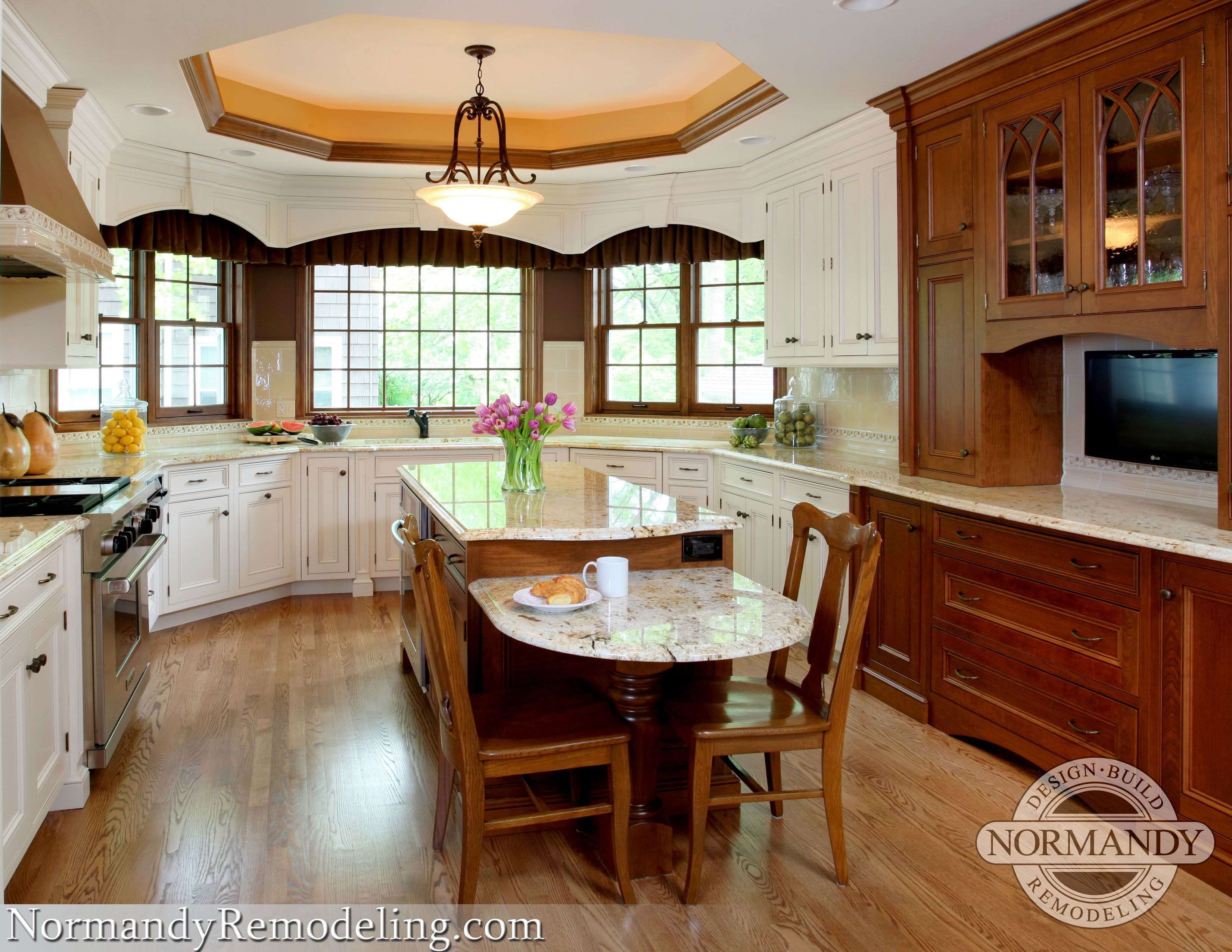 Kitchen Island With Table Height Seating Two Level Google Search