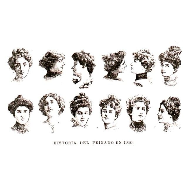 Peinados #1901 #argentina #buenosaires #vintage