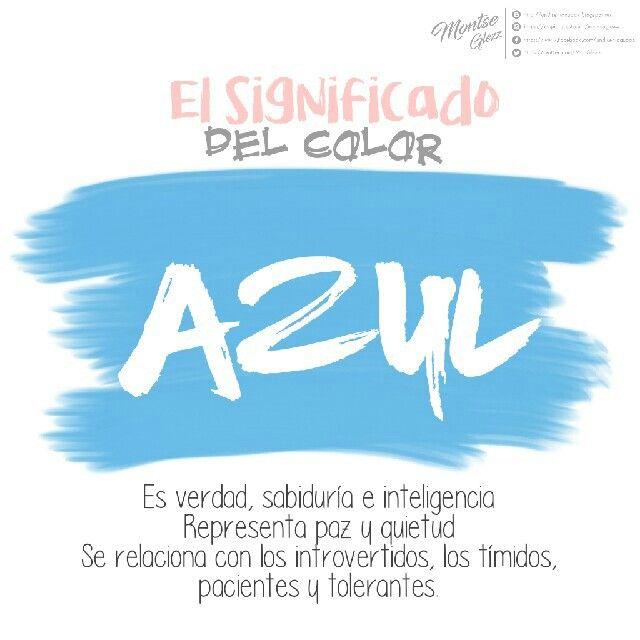 Significado del color azul Psicología del color Color azul significa verdad, sabiduría e inteligencia