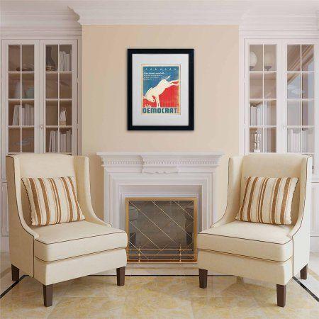 Trademark Fine Art Donkey by Anderson Design Group, White Matte, Black Frame, Archival Paper, Size: 11 x 14