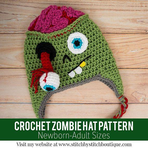 Crochet Pattern Crochet Hat Pattern Crochet Zombie Pattern Crochet