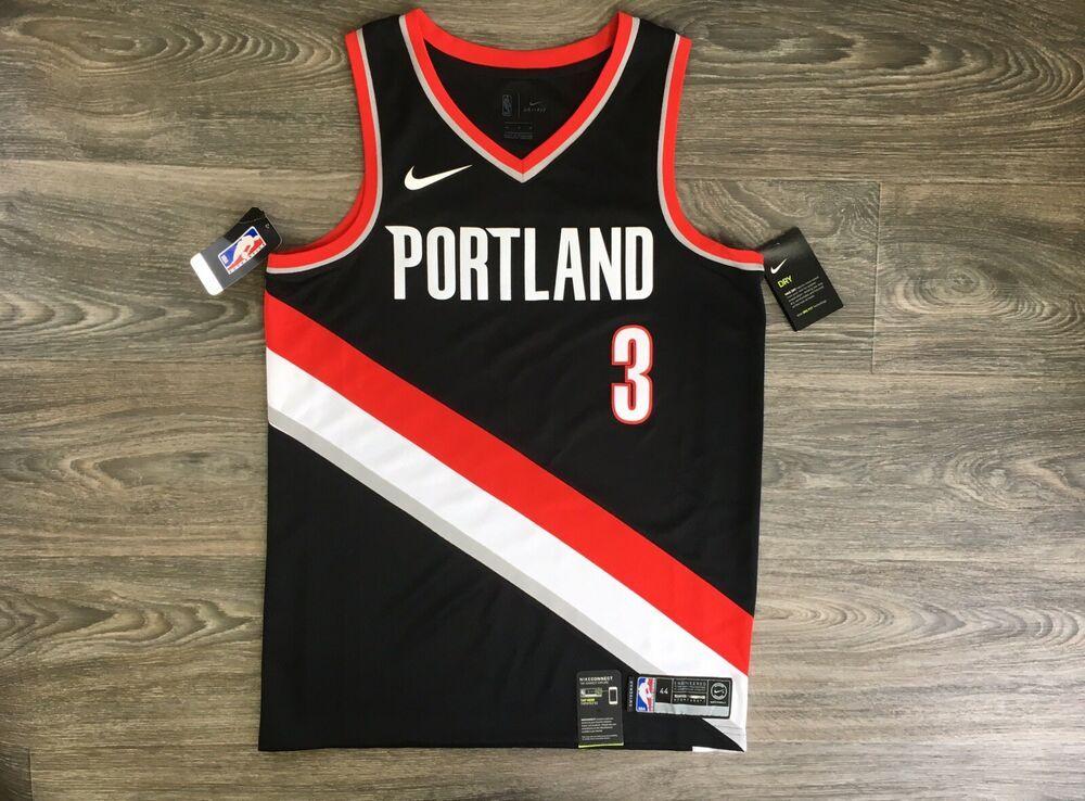 purchase cheap f21e6 58bcf C.J McCollum Jersey Nike Trail Blazers NBA Rip City Dry Fit ...