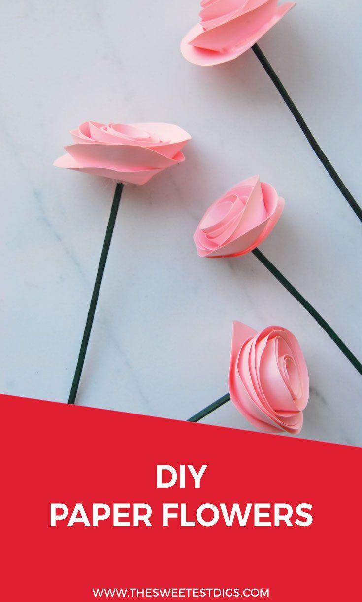 The Easiest Diy Paper Flower Tutorial Flowers Diy Paper And