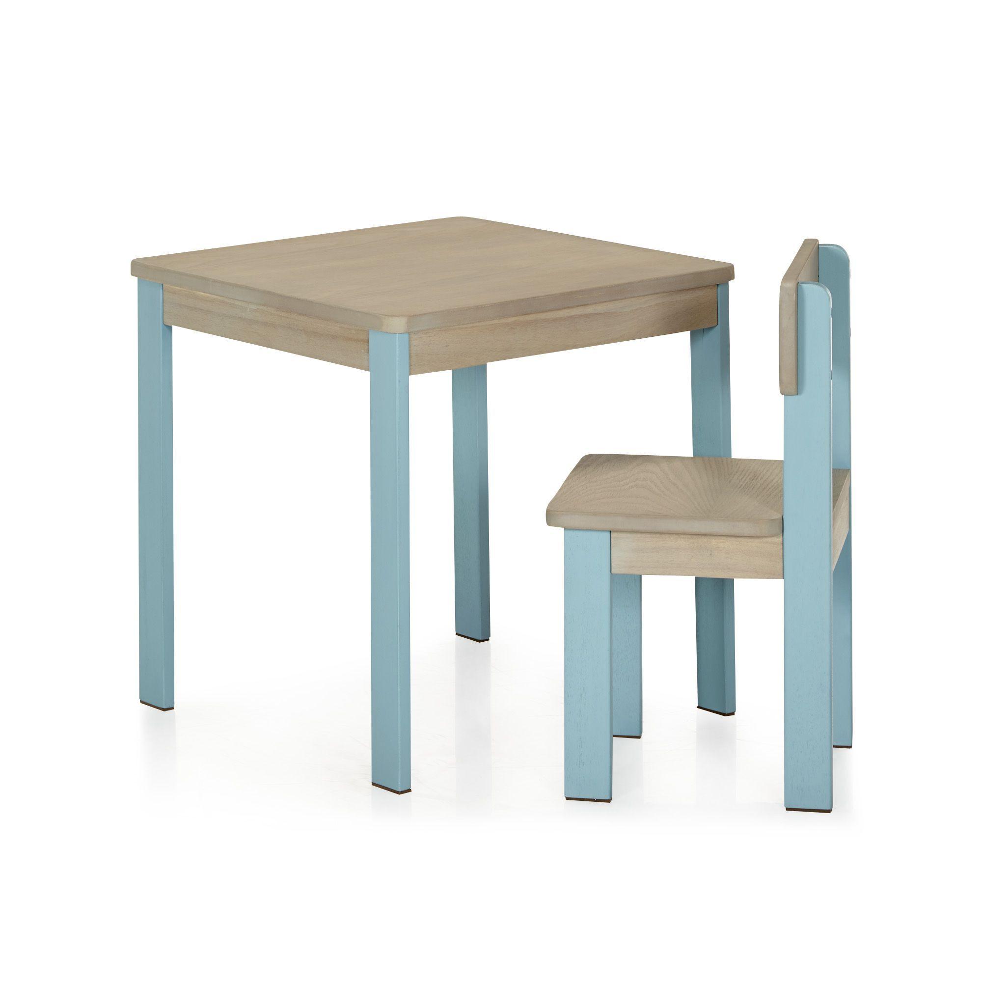 Table Et Chaise Bleus Pour Enfant En Acacia Acaya Bureaux Enfants Meubles Pour Chambre Enfant Univers Des En Mobilier De Salon Table Et Chaises Meuble Deco