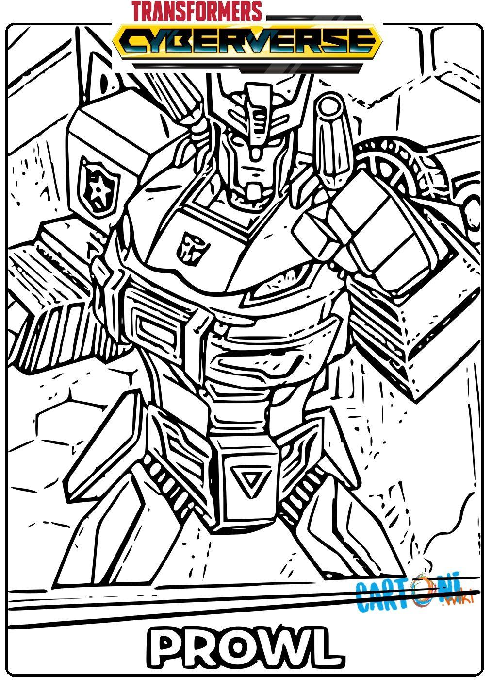 Transformers Cyberverse Disegno Prowl Da Colorare E Stampare Per