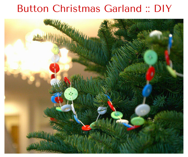 Make a Button Garland for your Christmas Tree - The Magic Onions