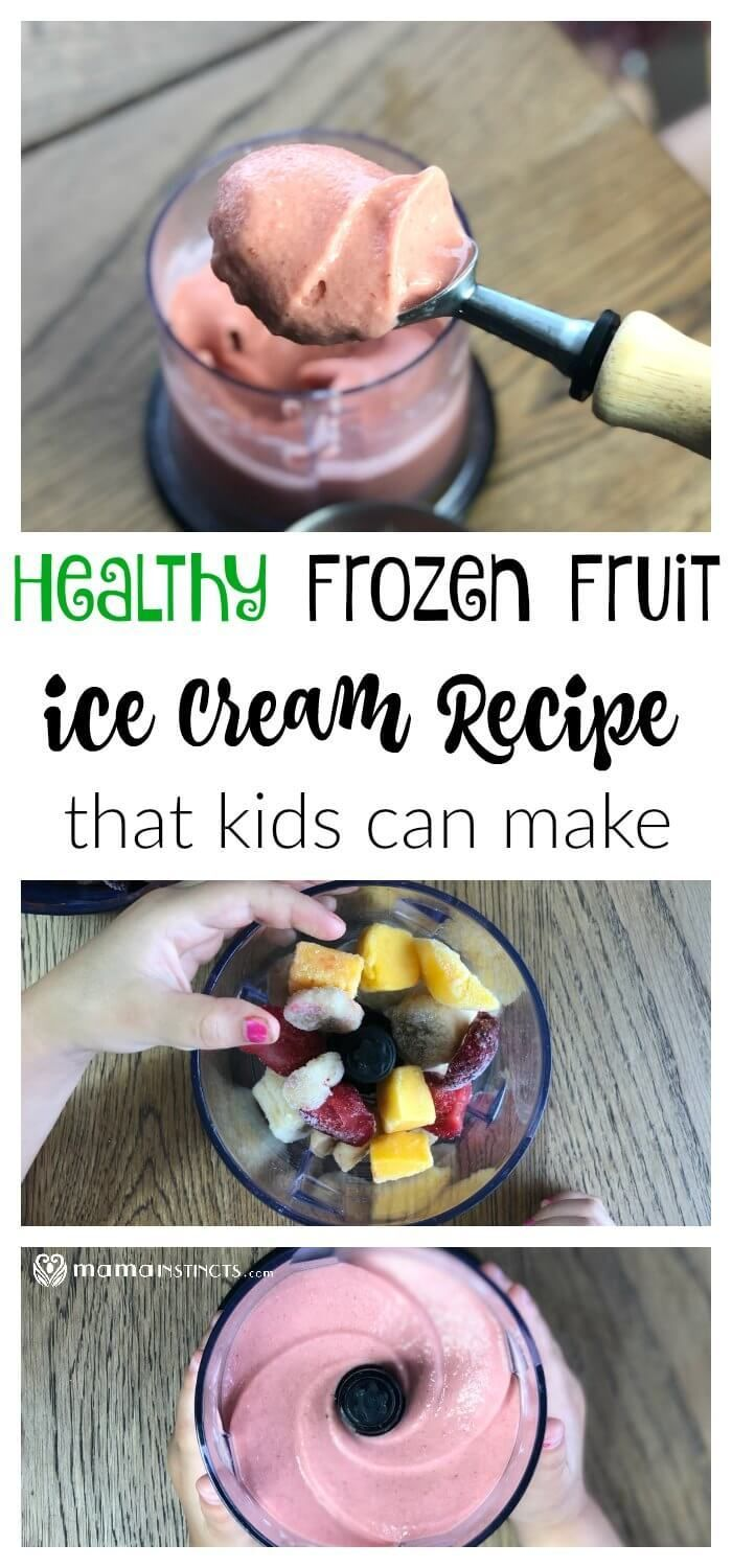 Healthy Frozen Fruit Ice Cream Recipe #healthyicecream