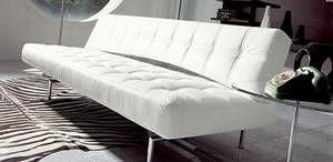 Bonaldo Pierrot King Leather Bed Sofa Living Room Furniture