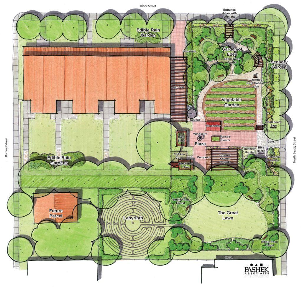 BorlandPlan1024x975 Landscape plans, Garden design