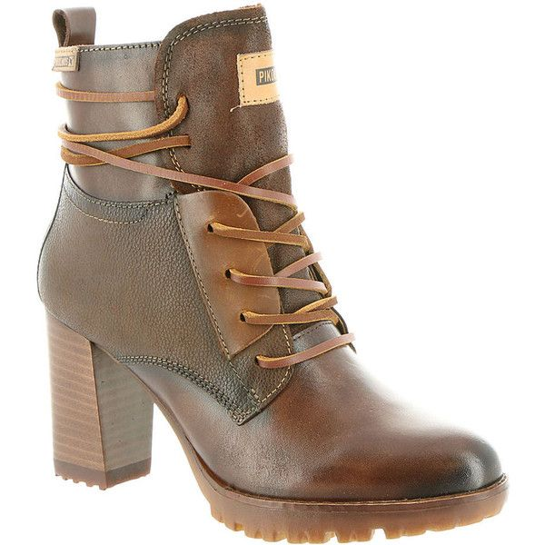 07f7a1e2e714 Pikolinos Connelly Strappy Hiker Women s Brown Boot ( 230) ❤ liked on  Polyvore featuring shoes