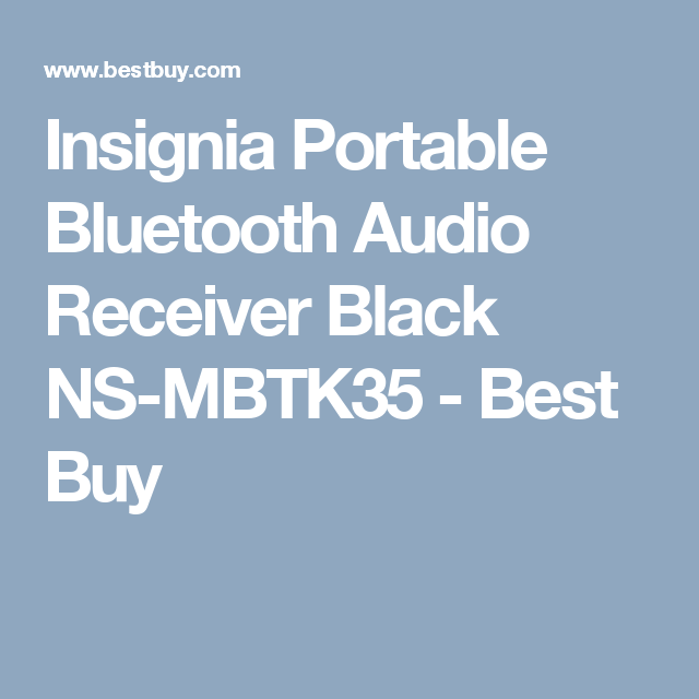 Insignia Portable Bluetooth Audio Receiver Black NS-MBTK35 - Best Buy