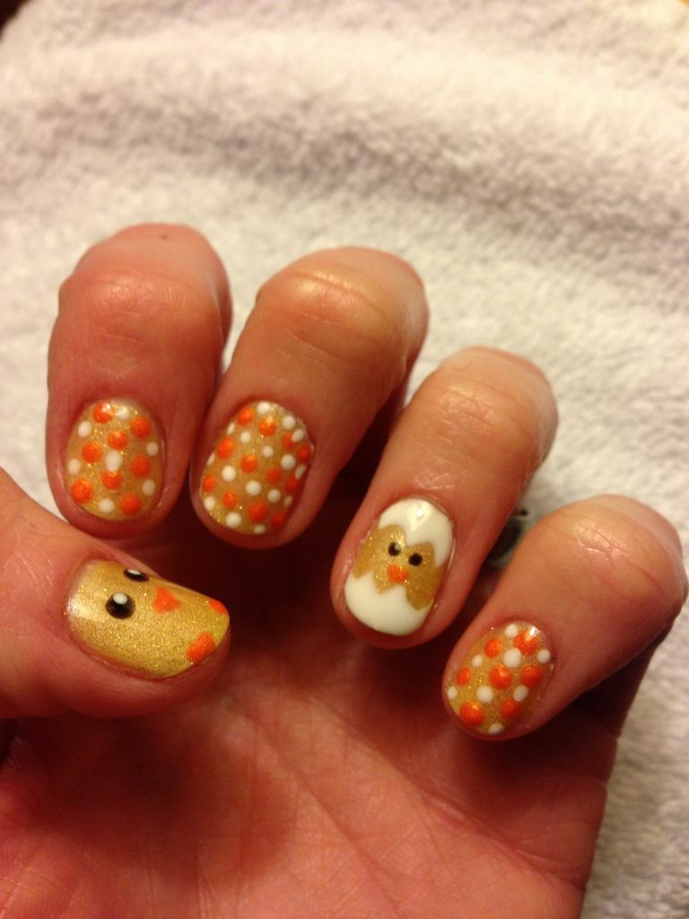 Soak off gel nail polish - Easter Chicks! TruGel Goldie-luxe ...