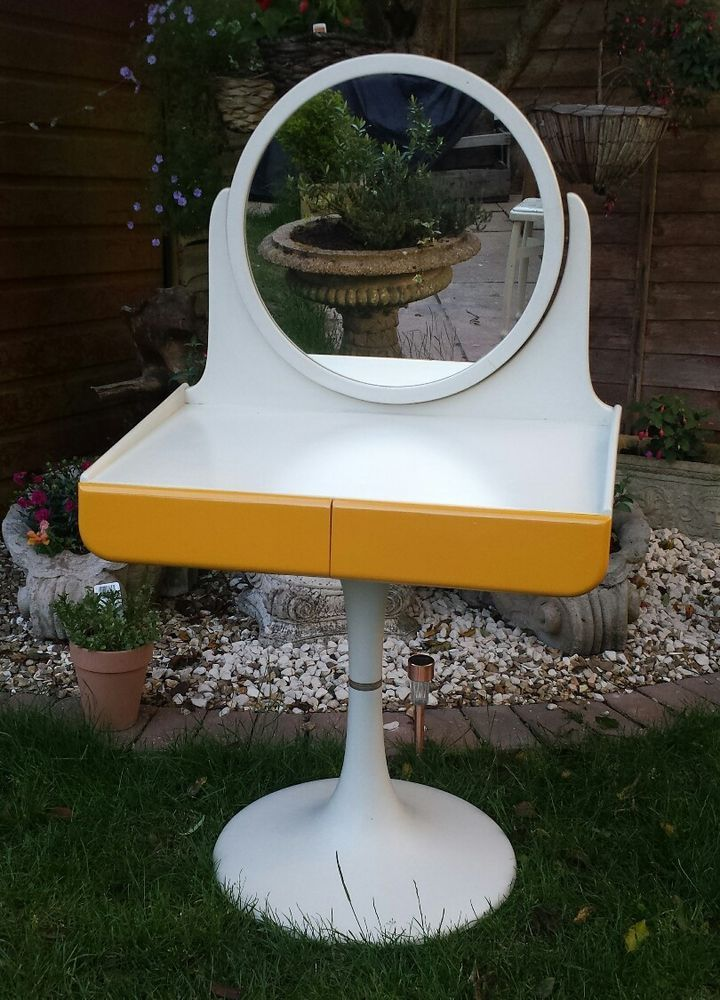 Retro 1960s 70s E Age Dressing Table Isku Made In Finland