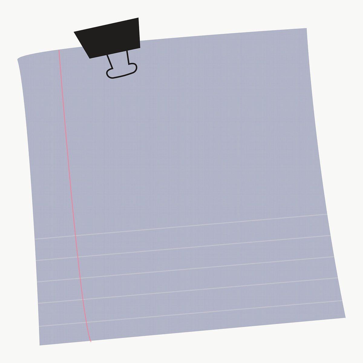 Download Premium Png Of Blank Lined Notepaper Set With Binder Clip On Note Paper Notes Design Doodle Frame