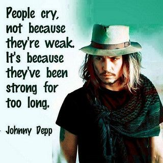 People cry not because they're weak It's because they've been strong for too long   Anonymous ART of Revolution Facebook: http://on.fb.me/Y86UBd Google+: http://bit.ly/10l37o8 Twitter: http://bit.ly/Y86TgB #Quotes #Sayings #Inspire #Love #Quote #LoveQuote