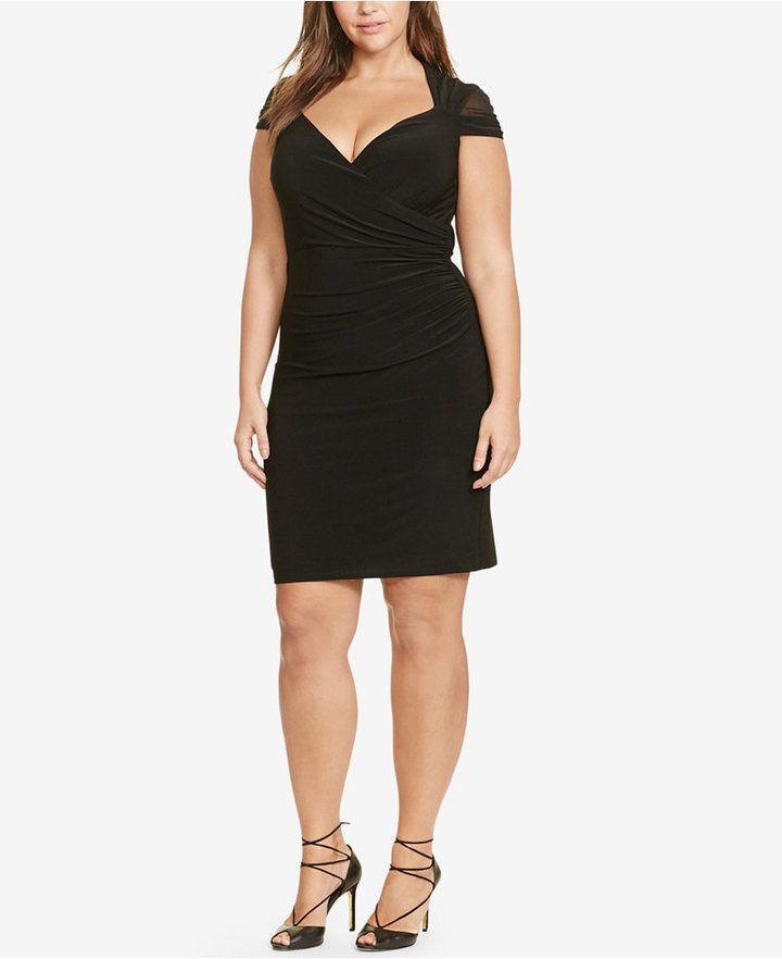 Lauren Ralph Lauren Plus Size Ruched Dress Plus Size Dresses