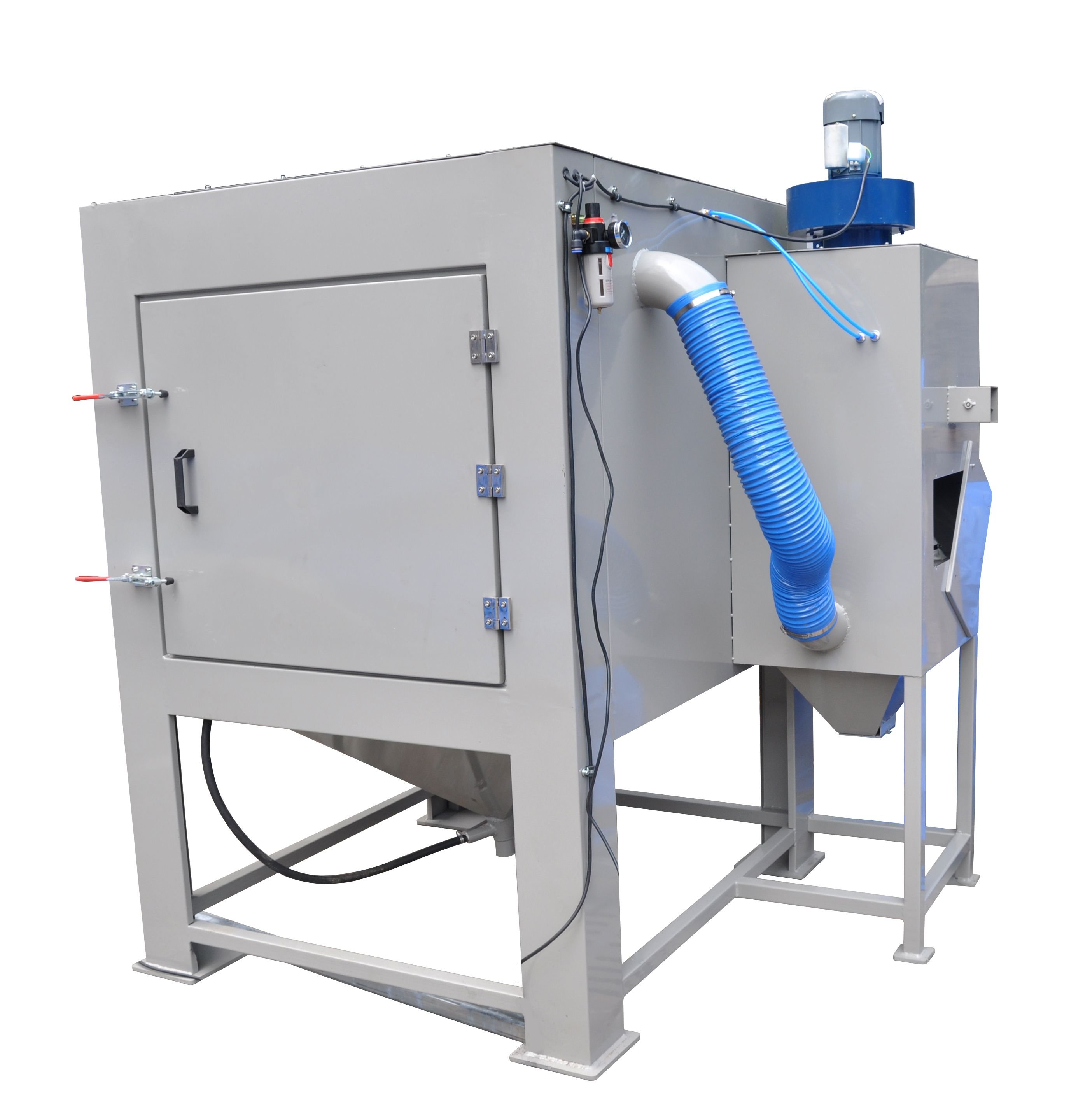 siphon blaster is equipped with cartridge filter duct collector