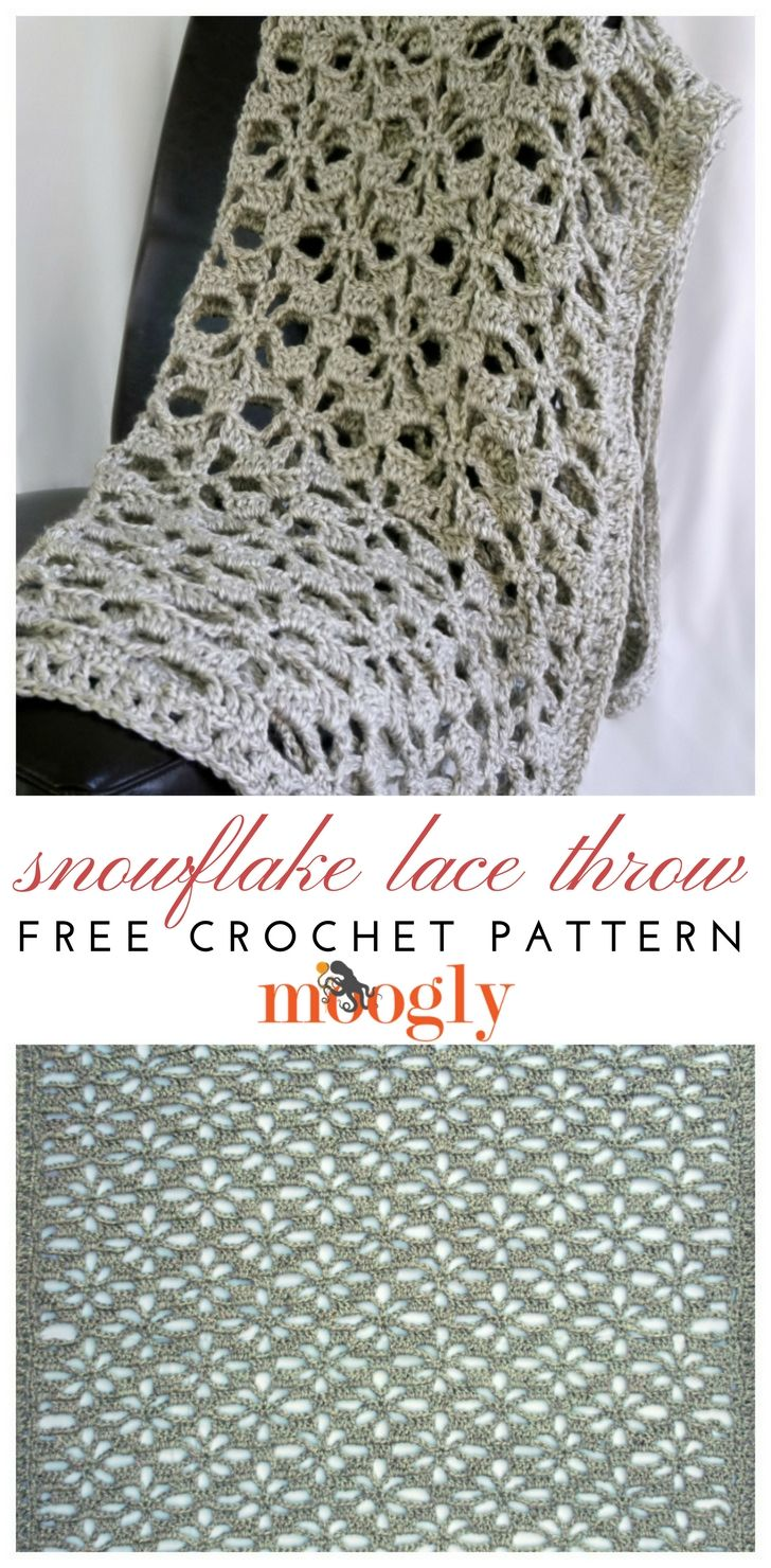 Snowflake Lace Throw - free crochet pattern on Moogly! Make it with ...