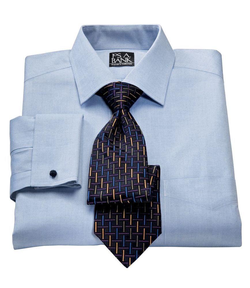 Paul Fredrick Mens Slim Fit Non-Iron Cotton Stripe Button Cuff Dress Shirt