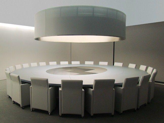 Round leather meeting table PARK AVENUE | Meeting table - JOSE MARTINEZ MEDINA