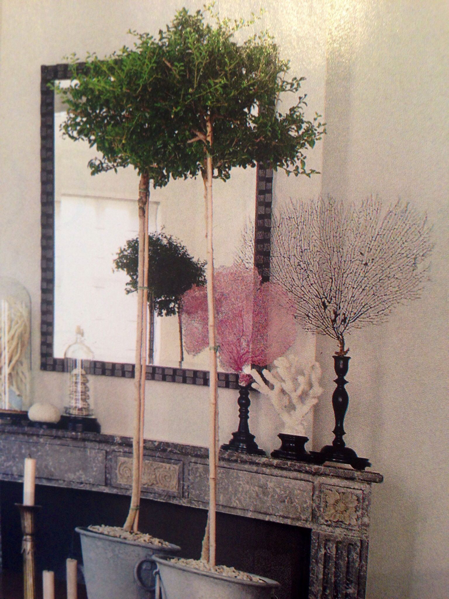 ElleDecor, March 2014  Coral in Candlesticks