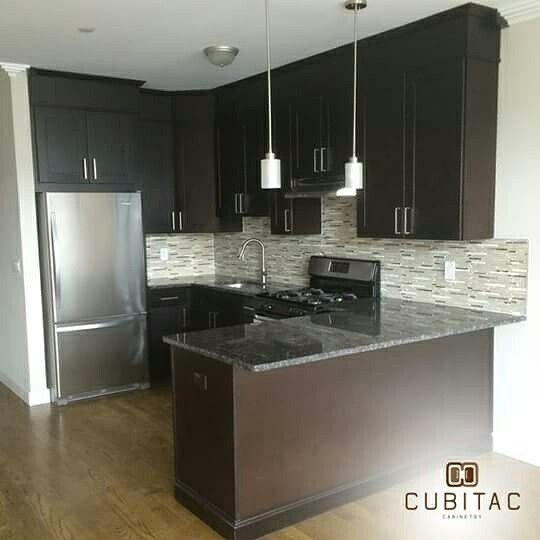 Cubitac Dover Espresso Kitchen Done By Newark Cabinets