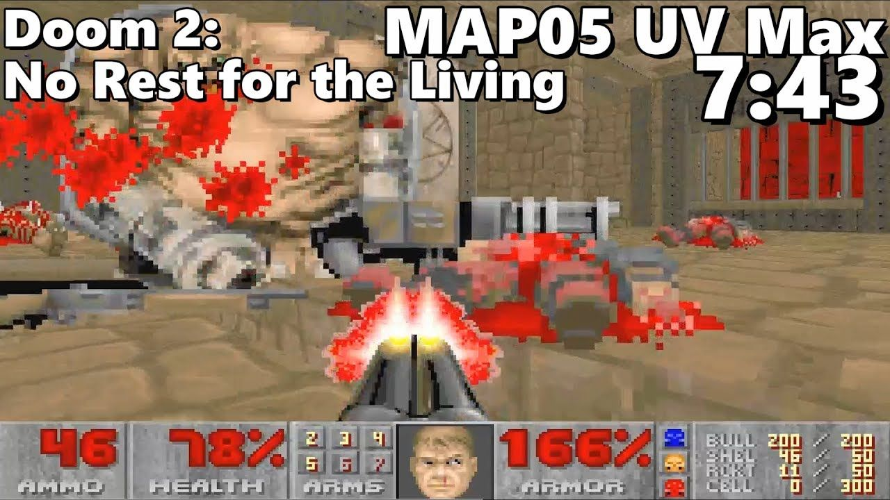 Doom 2 No Rest For The Living Map05 Vivisection Uv Max In 743