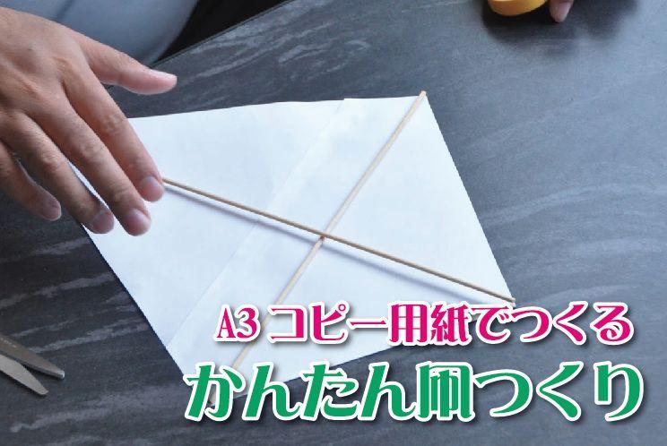 凧 手作り 簡単 凧の簡単な作り方|手作りカイトやよく飛ぶ凧揚げの材料は?
