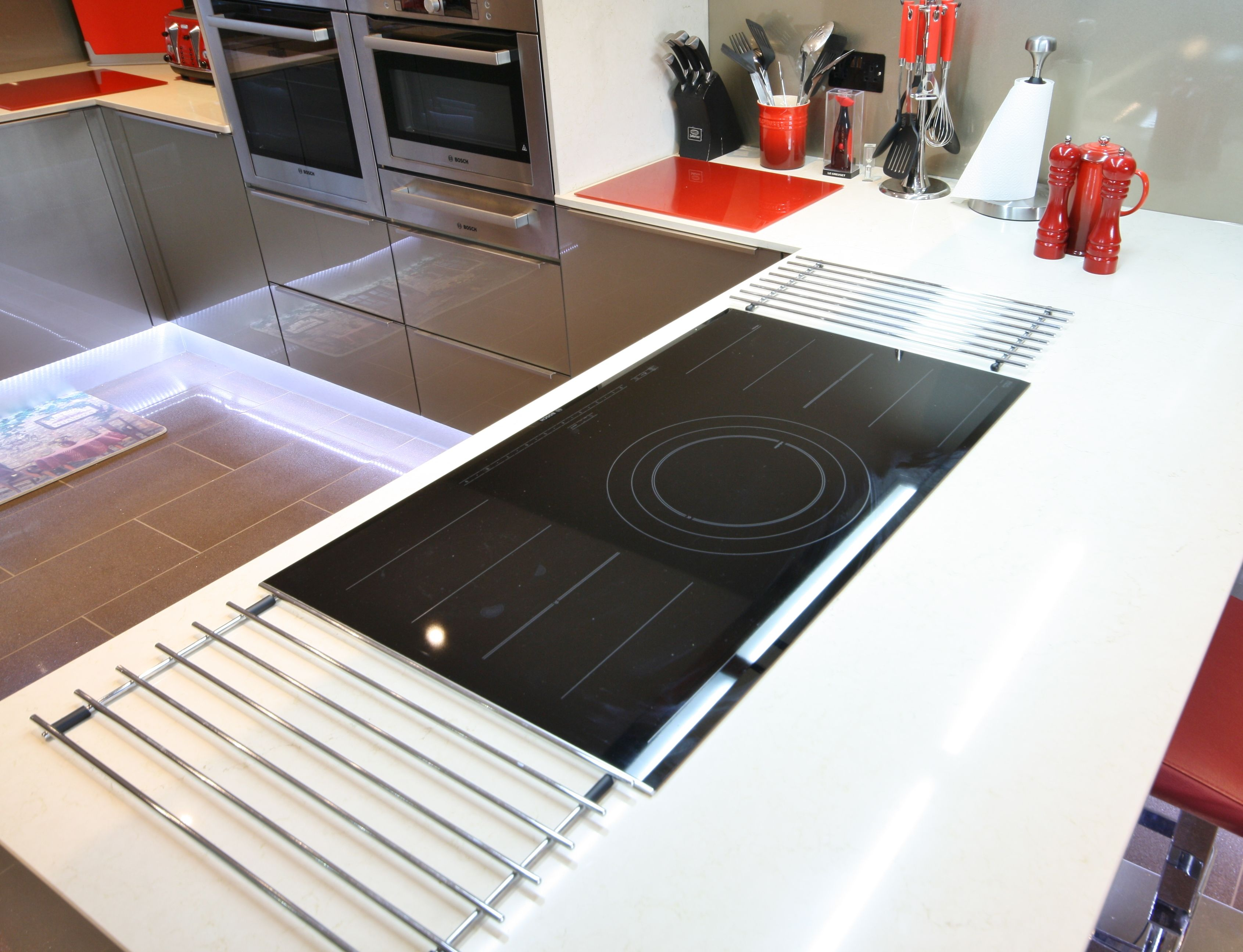 Küche Metallic Front Bosch Induction Hob Küche Pinterest Glass Front Cabinets