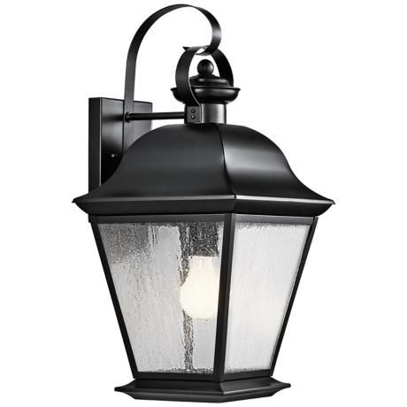 Kichler Mt Vernon 19 1 2 High Black Outdoor Wall Light 4g283 Lamps Plus Outdoor Wall Lantern Outdoor Wall Lighting Black Outdoor Wall Lights