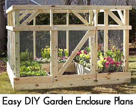 Easy Diy Garden Enclosure Plans Vegetable Gardening